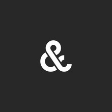 Ampersand Logo Monogram, Typog...