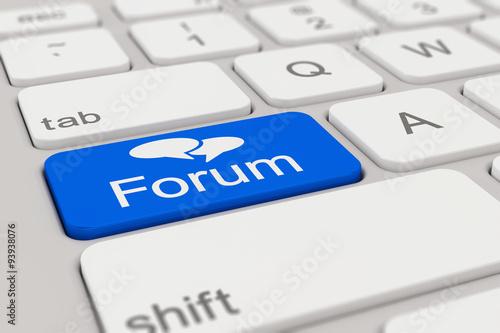 Photo  Tastatur - Forum - blau