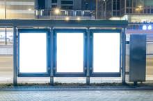 Empty Billboard At Night