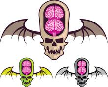 Double Brain Skull