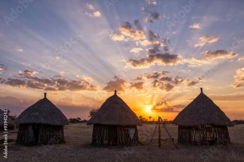 Photo  Boma Sunset - Tanzania