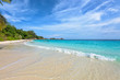 Beautiful landscape of blue sky sea sand and white waves on the beach during summer at Koh Miang island in Mu Ko Similan National Park, Phang Nga province, Thailand