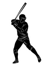 Silhouette Baseball Player