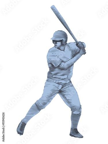 Photo  sketch baseball player