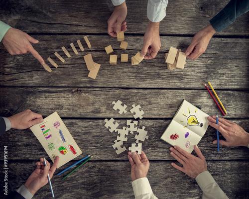 Fotografía  Businesspeople organizing business strategy