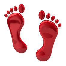 Red Footprints Icon