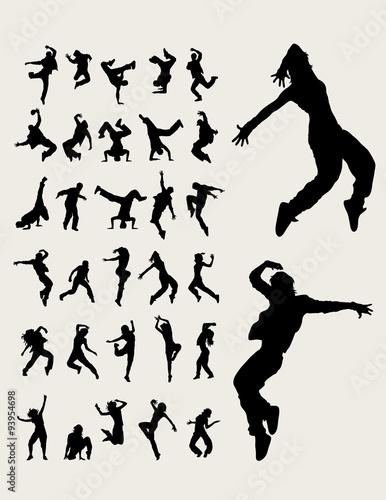 Láminas  Hip Hop Dancers Silhouettes