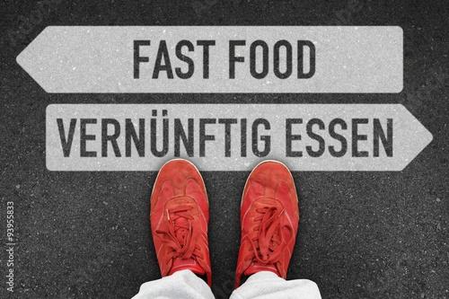 Fotografie, Obraz  th t fast food vernuenftig essen I