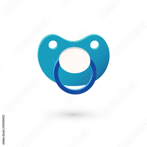 Realistic image of pacifier, soother. Icon. Canvas-taulu