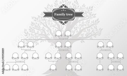 Fotografie, Obraz  Genealogical tree of your family.