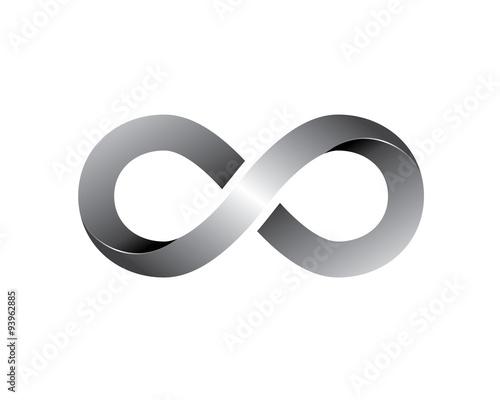 silver ribbon infinity Canvas Print