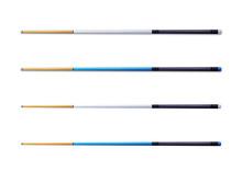 Illustration: Cue, Pool Sticks, Snooker Sticks, Billiard Sticks HD Isolated On White Background. Fantastic Cartoon Style Game Element Design.