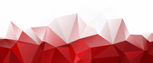 White Red Triangular Abstract ...