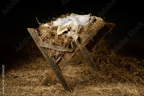 Photo  Old Manger with Soft Clothes