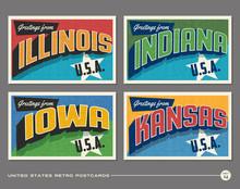 United States Vintage Typograp...