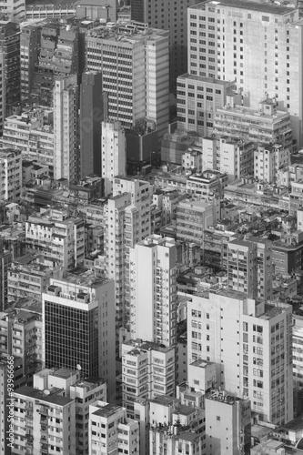 widok-z-lotu-ptaka-hong-kong-miasto-w-czarny-i-bialy