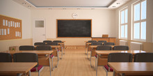 The Interior Of Classroom (3D ...