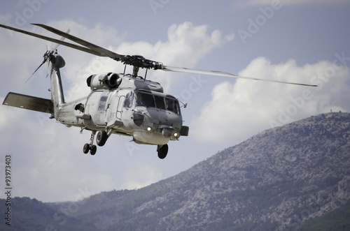 Tuinposter Helicopter Black Hawk