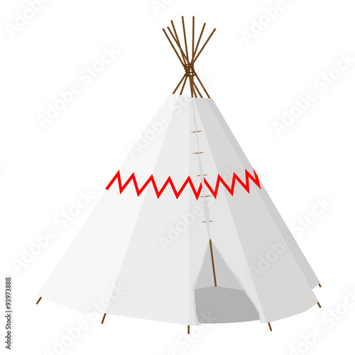 Wigwam with pattern Canvas