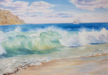 Beautiful, Blue, Tropical Sea And Beach.
