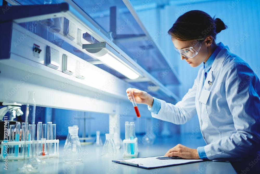 Fototapeta Testing substances