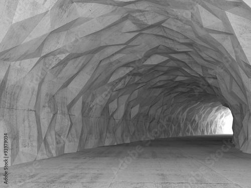 3d-wnetrze-tunelu-z-chaotyczna-wielokatna-plaskorzezba