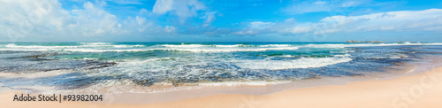 Foto auf Leinwand Wasser The Indian ocean. Panorama