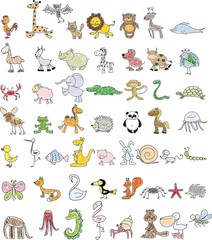 Children's drawings of animals