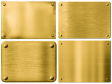 Gold Metal Plates Or Signboard...