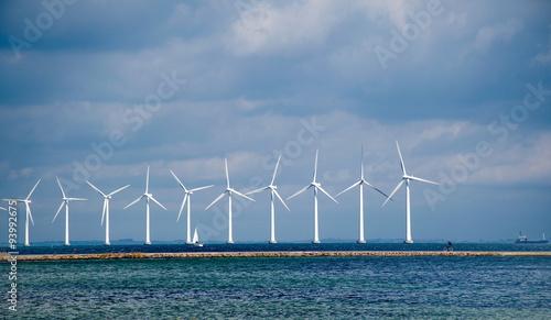 Aluminium Prints Mills Windmills on the sea