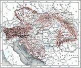 Austria-Hungary, vintage engraving. - 93995037