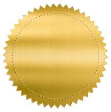 Gold Metallic Foil Seal Label ...