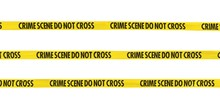 Crime Scene Do Not Cross Tape Lines Isolated On White