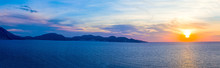 Greek Mediterranean Sunset