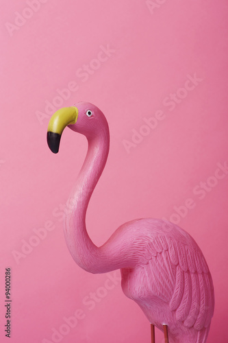 Kitsch pink flamingo
