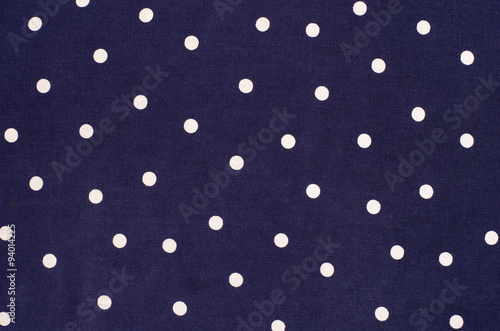 Polka dots pattern. White dots print on blue as background. Canvas Print