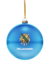Bauble With The Flag Design Of Oklahoma.(series)