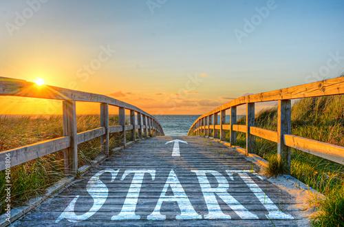 Start-Weg Billede på lærred