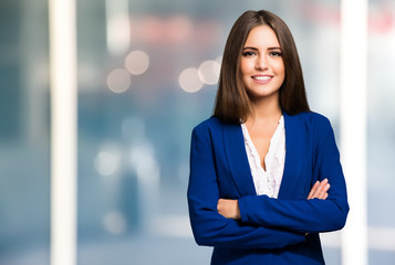 Smiling woman portrait