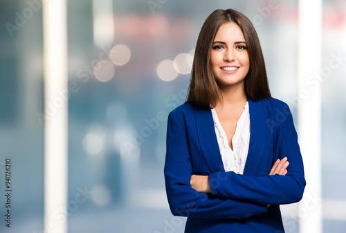 Obraz Smiling woman portrait - fototapety do salonu