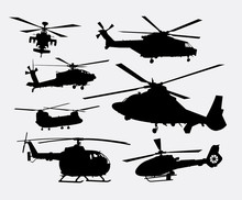 Helicopter Transportation Silh...