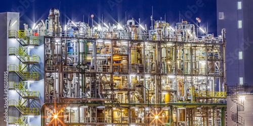Fotobehang Industrial geb. Industrial Chemical factory frame detail