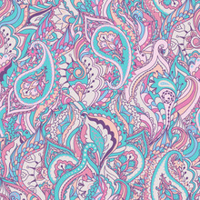 Floral Paisley Vector Colorful...