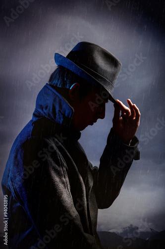 Photo  Man in black