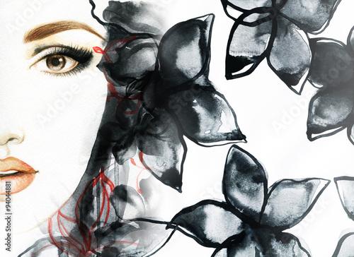 piekna-twarz-portret-kobiety-streszczenie-akwarela-moda-tlo