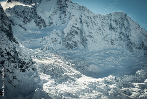 Obraz na plátne  glacier in Valmalenco (monte Disgrazia)  - Italy
