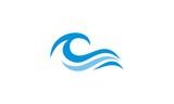 ocean wave abstract water logo