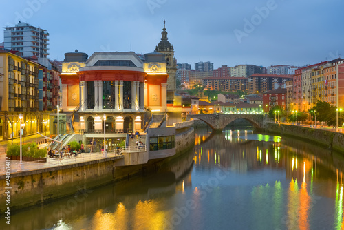 Bilbao in a summer night