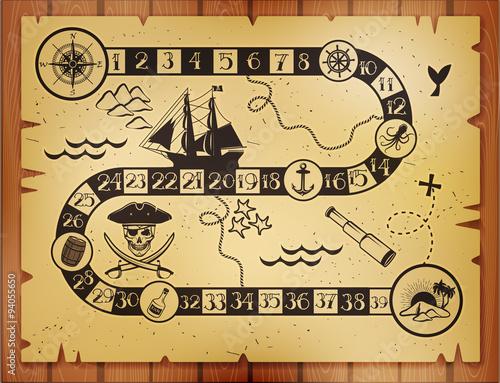Plakat Mapa piratów