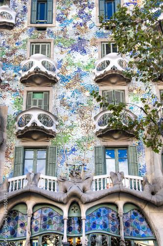 Photo  The famous casa Battlo building designed by Gaudi in Barcelona, Spain